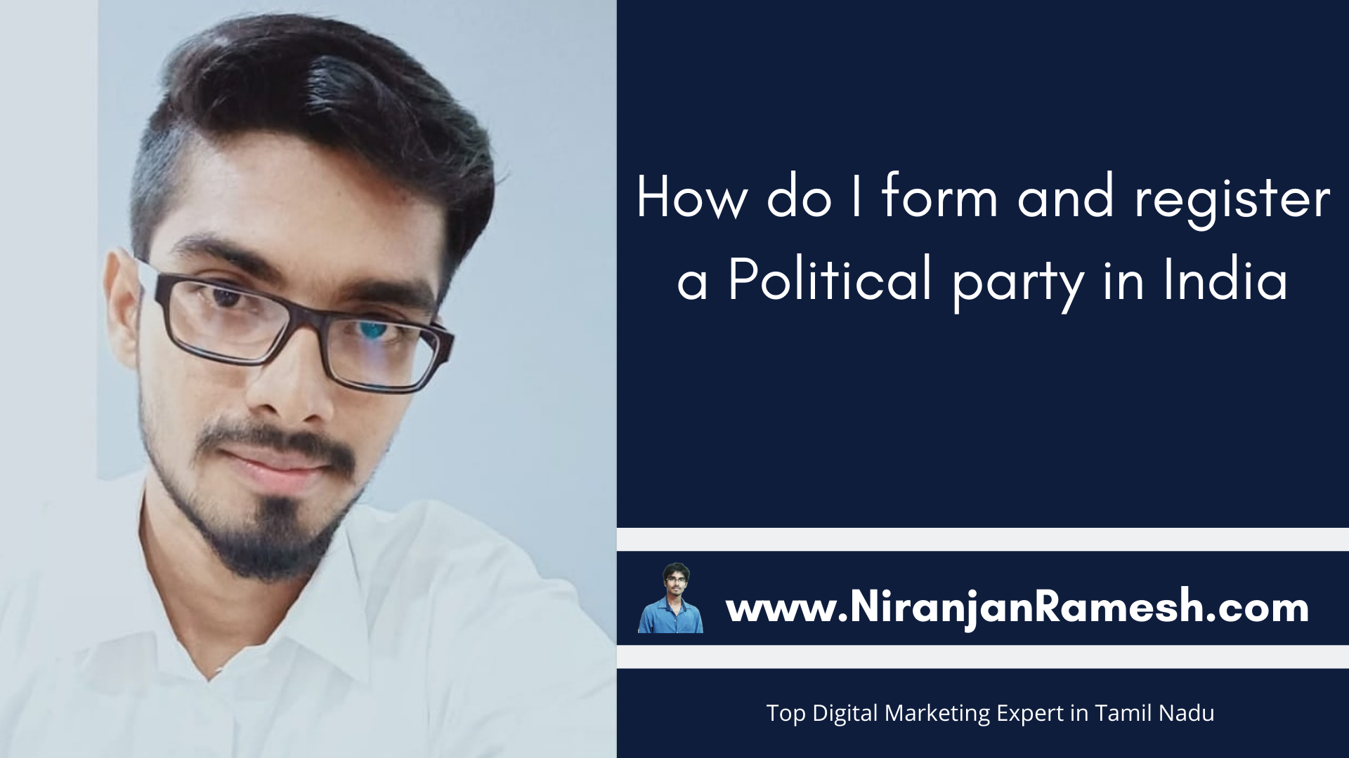 How do I form and register a Political party in India