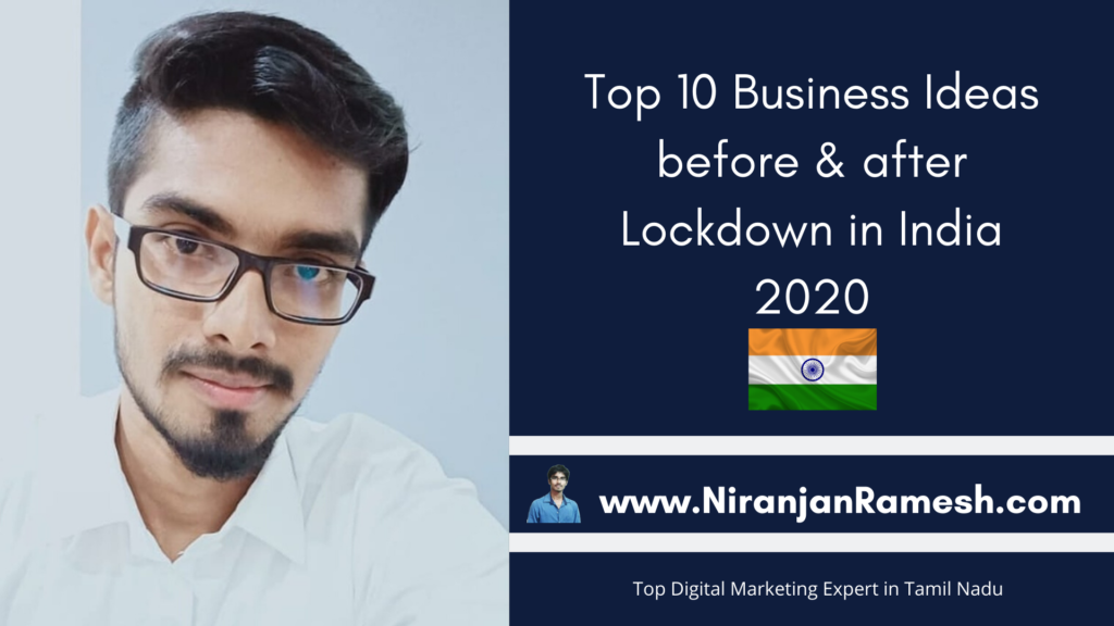 Small Business ideas after Lockdown in India