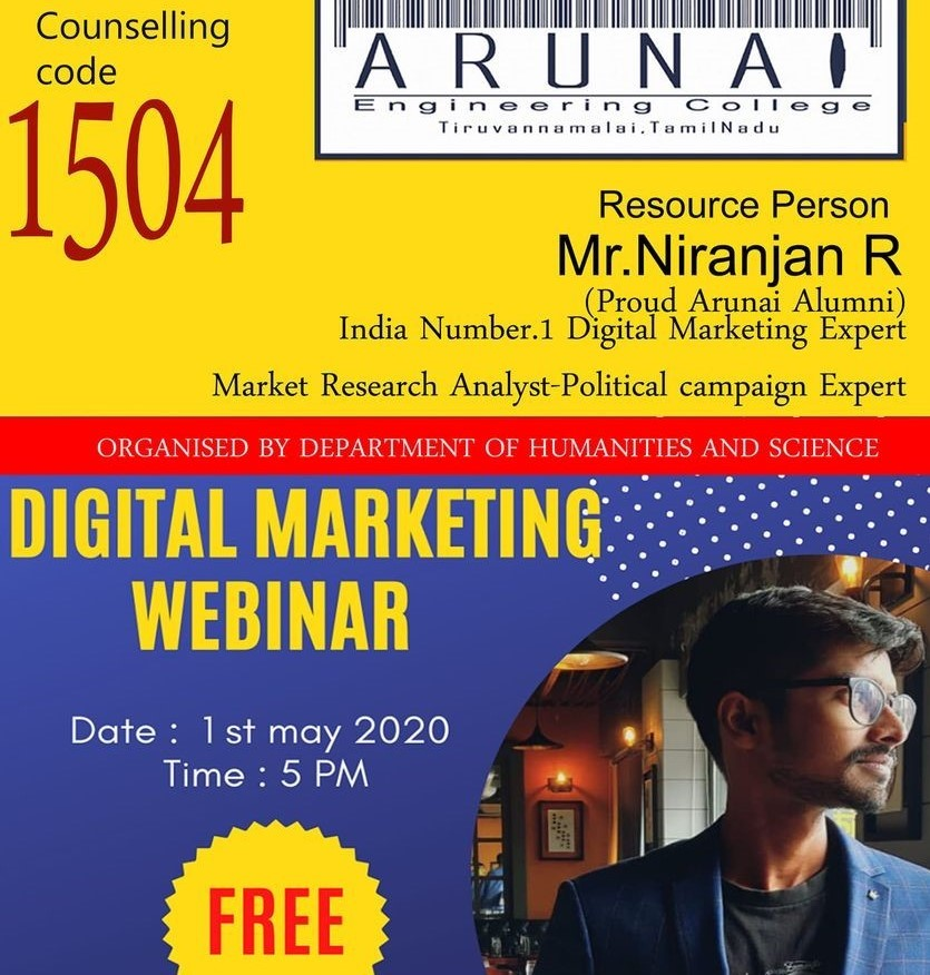 digital-marketing-expert-arunai-engineering-college-chief-guest-talk